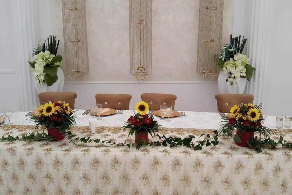 Aranjamente Prezidiu Floarea Soarelui Aranjamente Florale Nunta